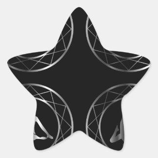 Yoga or gymnast silhouette star sticker