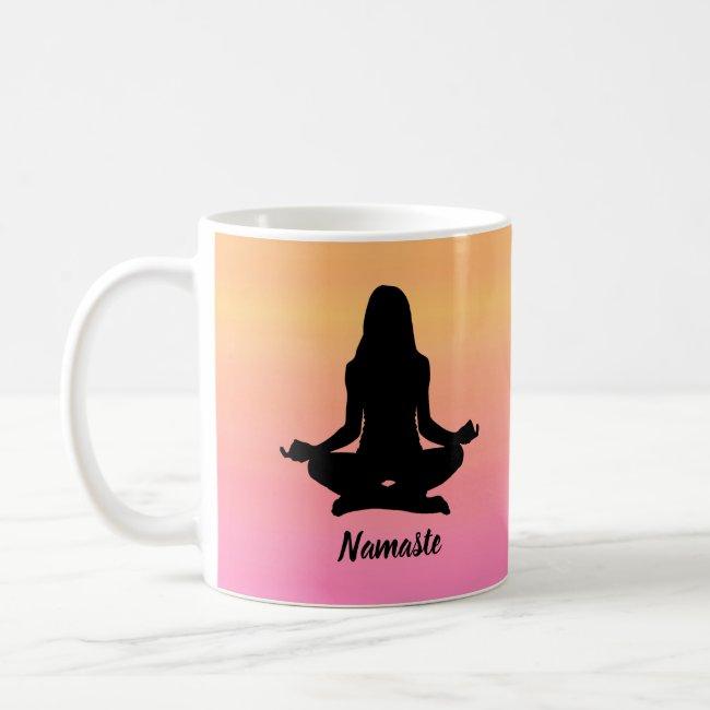 Yoga Orange and Pink Rainbow Sunset Mug