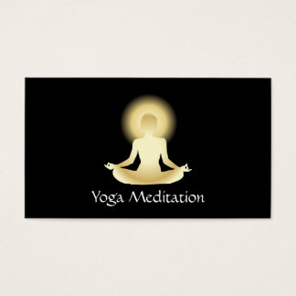 Yoga (oro) aclarada tarjeta de negocios