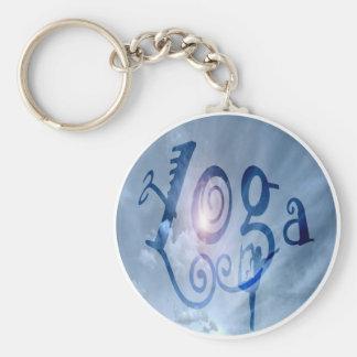Yoga Outdoor Clouds Basic Round Button Keychain