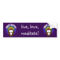 yoga owl bumper sticker