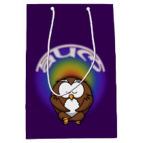 yoga owl medium gift bag