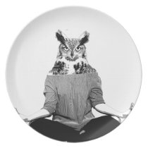 Yoga owl plate