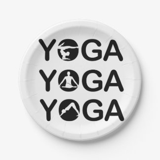 Yoga Paper Plate