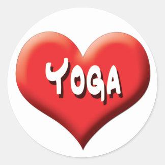 Yoga para cada uno - corazones rojos