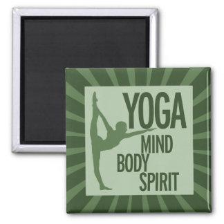 YOGA para el cuerpo y alma de la mente Imán De Nevera