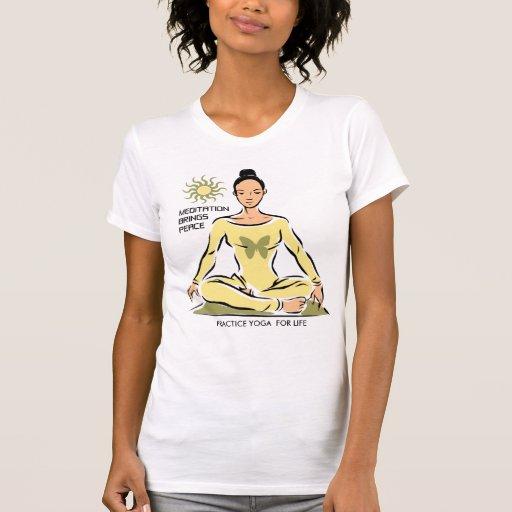 Yoga para la camiseta de la vida playeras