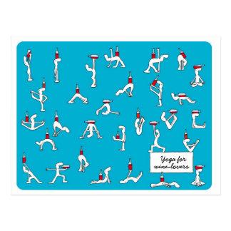 Yoga para la postal de Winelovers