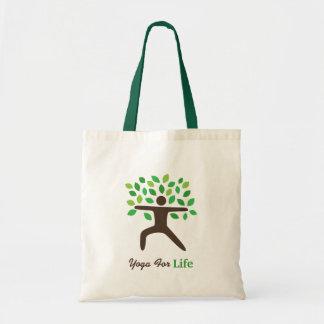 Yoga para la vida, actitud del guerrero, árbol bolsa tela barata