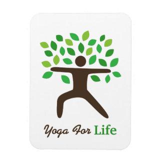 Yoga para la vida, actitud del guerrero, árbol iman rectangular