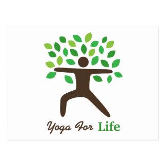 Yoga para la vida, actitud del guerrero, árbol postales