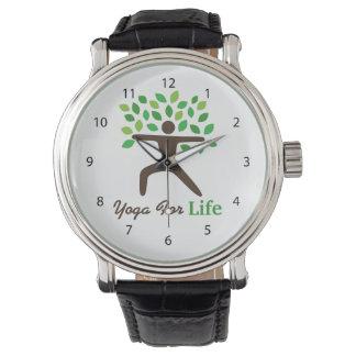 Yoga para la vida, actitud del guerrero, árbol reloj