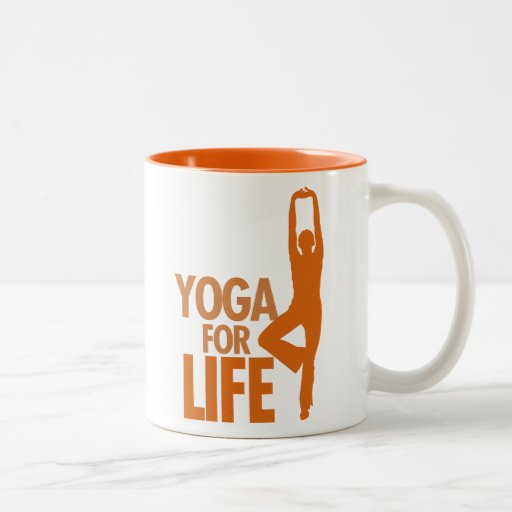 Yoga para la VIDA Taza De Dos Tonos