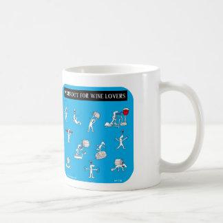 yoga para los amantes del vino tazas de café