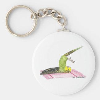 Yoga Parakeet Plow pose Basic Round Button Keychain