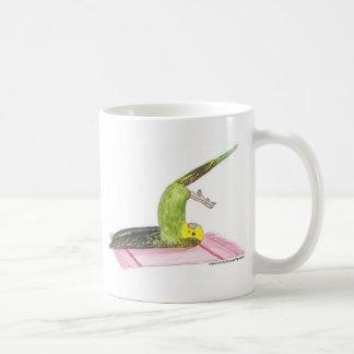 Yoga Parakeet Plow pose Coffee Mug