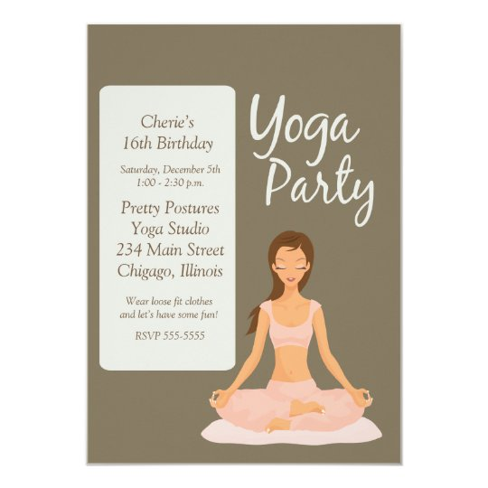 Invitation card exercise purplemoon yoga party birthday exercise stretching invitation zazzle invitation samples stopboris Gallery