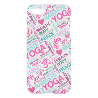 Yoga Peace and Harmony Word Cloud iPhone 7 Case