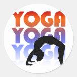 yoga pegatinas redondas