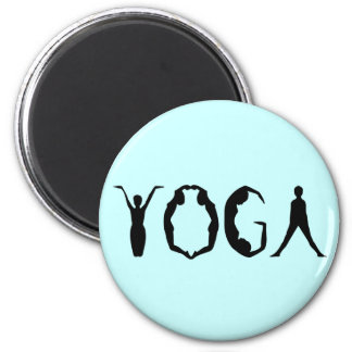 Yoga People Refrigerator Magnet