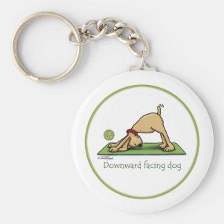 Yoga - perro boca abajo llavero personalizado