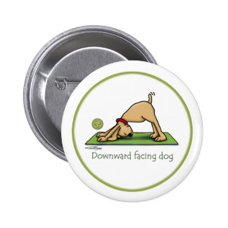 Yoga - perro boca abajo pin redondo 5 cm