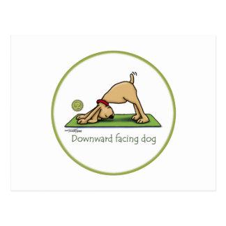 Yoga - perro boca abajo postales