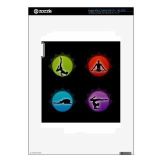 Yoga pilates decals for iPad 3