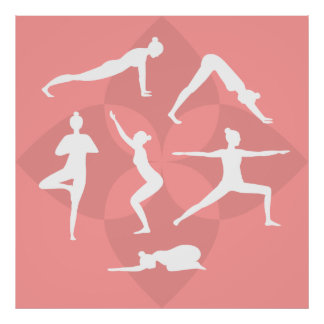 Yoga Pilates Illustration Poster