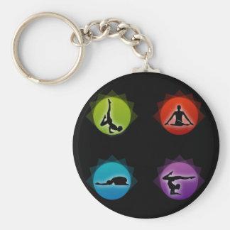 Yoga pilates keychain