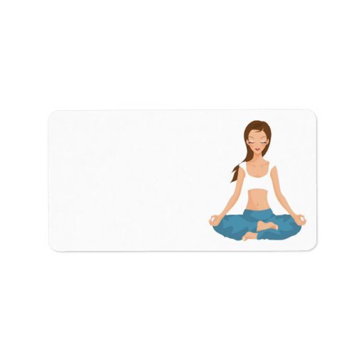 Yoga Pilates Meditation l Health & Fitness Address Label