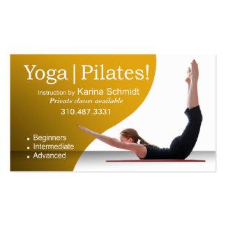 """Yoga | Pilates!"" Pilates Instruction, Yoga Class Business Cards"