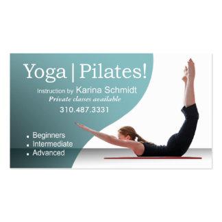 """Yoga | Pilates!"" Pilates Instruction, Yoga Class Business Card Templates"