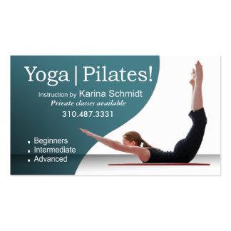 """Yoga | Pilates!"" Pilates Instruction, Yoga Class Business Card Template"
