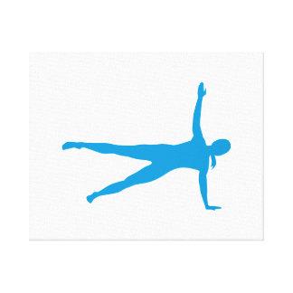 Yoga Pilates woman Canvas Print