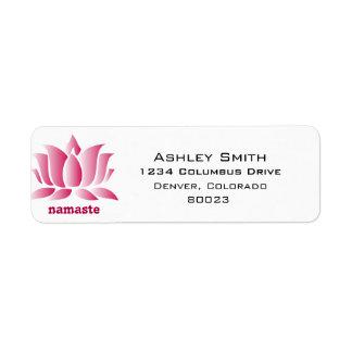 yoga pink lotus namaste label