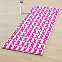 Yoga Pink Ribbon Breast Cancer Awareness Support Yoga Mat