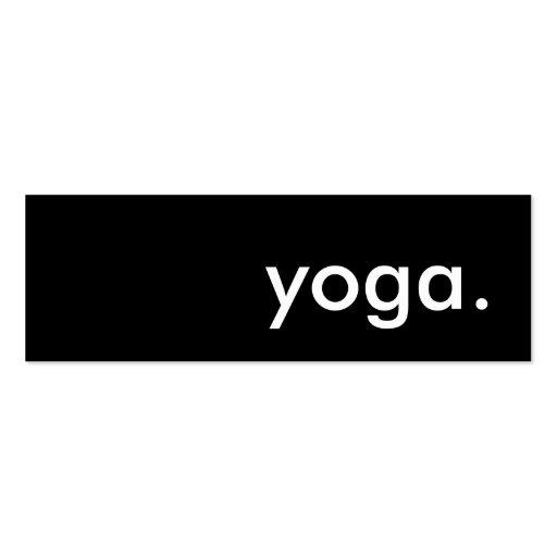 yoga plantilla de tarjeta de visita