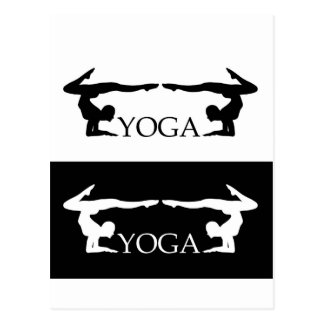 Yoga pose- Advanced level Postcard