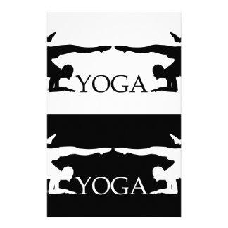 Yoga pose- Advanced level Stationery