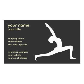 Yoga Pose Black Silhouette Business Cards