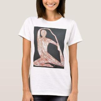 Yoga Pose Body Exercise Original Oil Painting Art T-Shirt