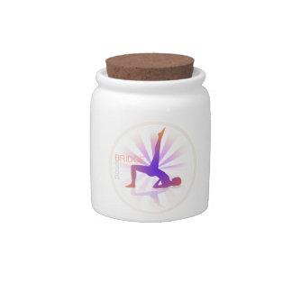 Yoga Pose Candy Jar (bridge pose)