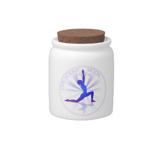 Yoga Pose Candy Jar (crescent-moon pose)
