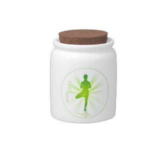 Yoga Pose Candy Jar (tree pose)