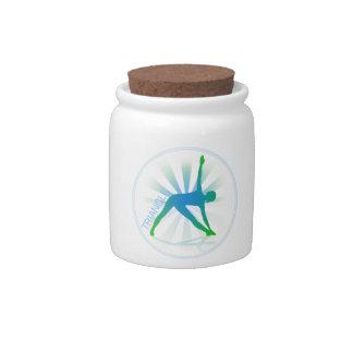 Yoga Pose Candy Jar (triangle)