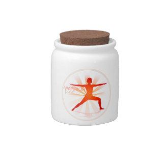Yoga Pose Candy Jar (warrior pose)