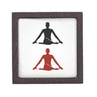 Yoga pose- Cow face gomukhasana Gift Box