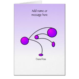 Yoga Pose - Crane Pose Card