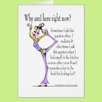 Yoga Pose customizable card MUST SEE BACK